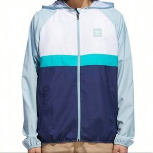 Adidas BB Wind Jacket White - Teal - Navy Small